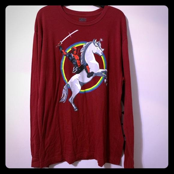 Marvel Deadpool unicorn long sleeve
